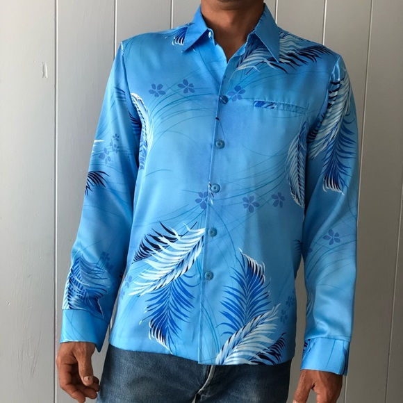 80e4b469 Vintage Shirts | Hawaiian Tropicana Long Sleeve Aloha Shirt | Poshmark